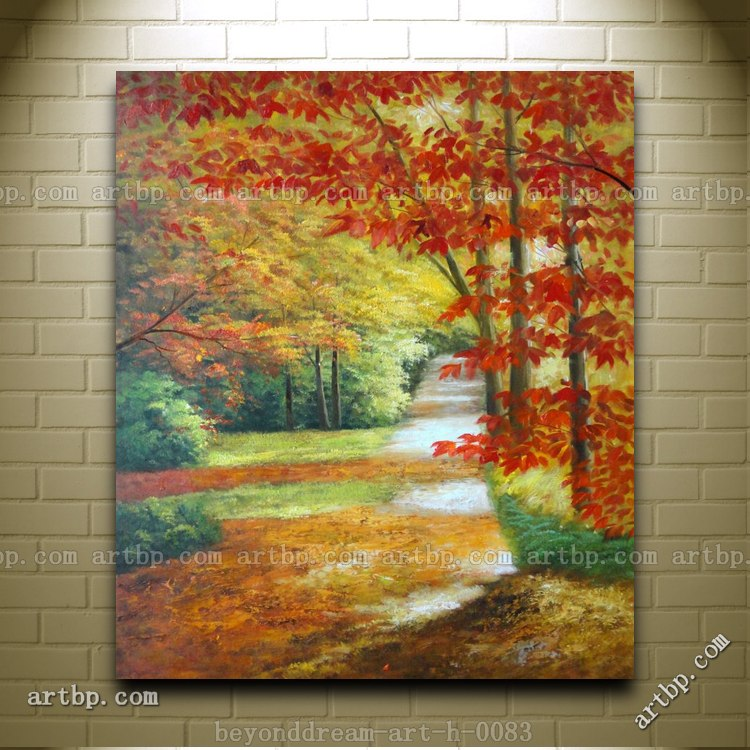 Oil Paintings of Fall Trees Autumn Trees Oil Painting