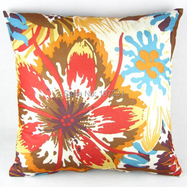 20 Square Throw Pillow Covers : Vintage Multi colored Floral Throw Pillow Case Decor Cushion Cover 50cm Square 20