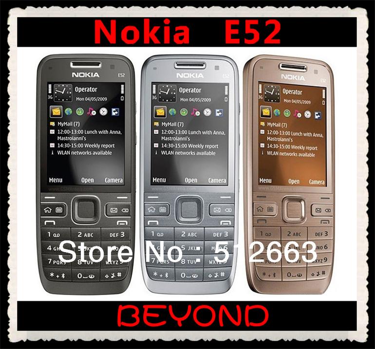 Nokia E52 Original Unlocked GSM 3G Mobile Phone 3.2MP GPS WIFI E52 Cell Phone Dropshipping(China (Mainland))