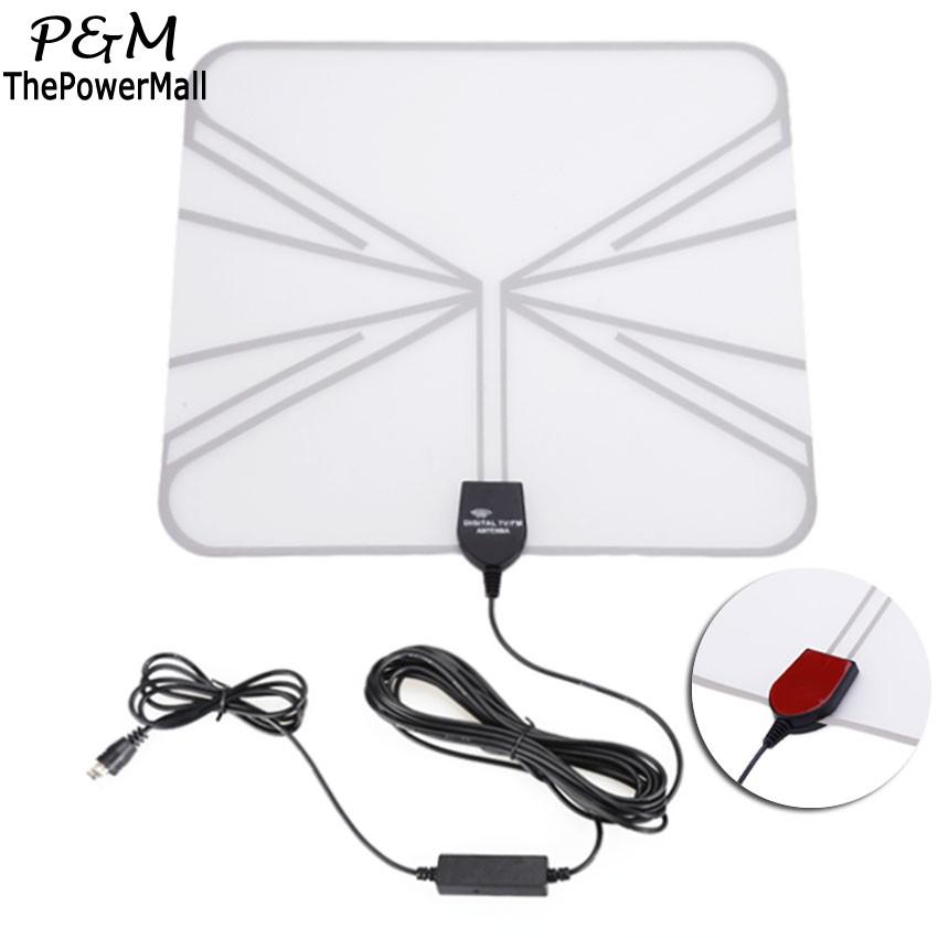 2016 High Quality Flat Wave Signal Amplified Thin HD Digital Television Indoor Antenna 50 Mile Range Free Shipping US58(China (Mainland))