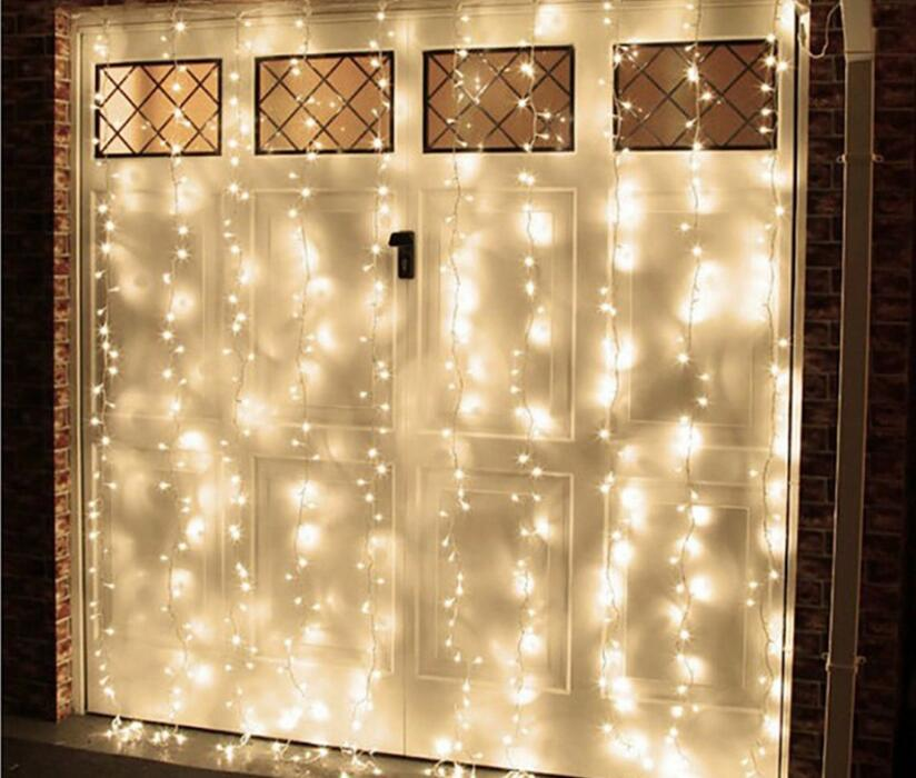 3mx3m Romantic Holiday String LED Window Door Curtain Light Icicle Christmas Home Decorative Garlands Fairy Drop Lighting(China (Mainland))
