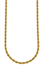 4mm 30 Inch Long Necklace Jewelry New Gold Rope Chain For Men