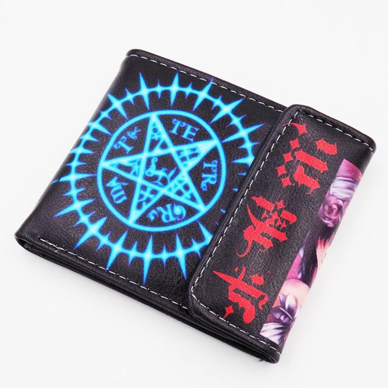 PU Leather Cartoon Purse Hokage Ninjia Wallet Black Butler Hasp Carteira Kids purse Billfold With Cards Holder(China (Mainland))