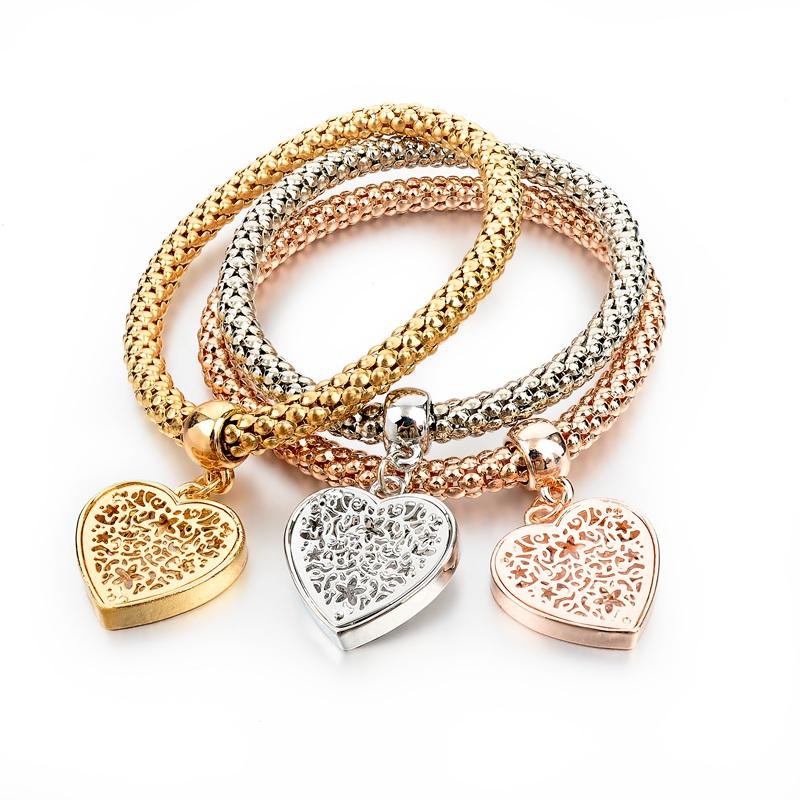 Гаджет  2015 New Design Gold Silver Bracelets & Bangles Fashion Heart Crystal Bracelets For Women Elastic Charm Jewelry SBR150160 None Ювелирные изделия и часы