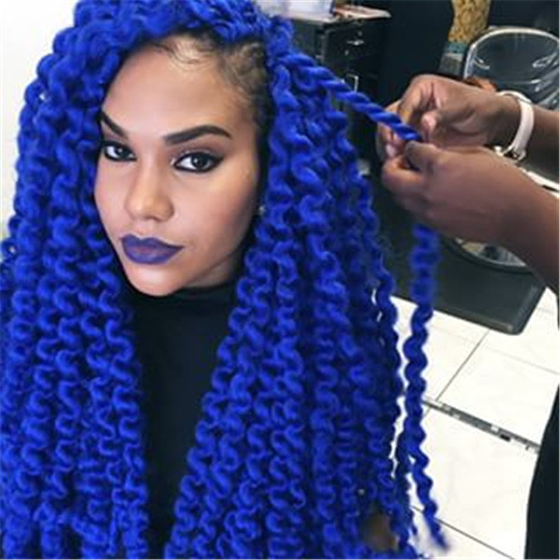 Havana-143 twist braid for hair extension blue COLOR 18 inch 100g/piece hanava mambo twist hair braids<br><br>Aliexpress