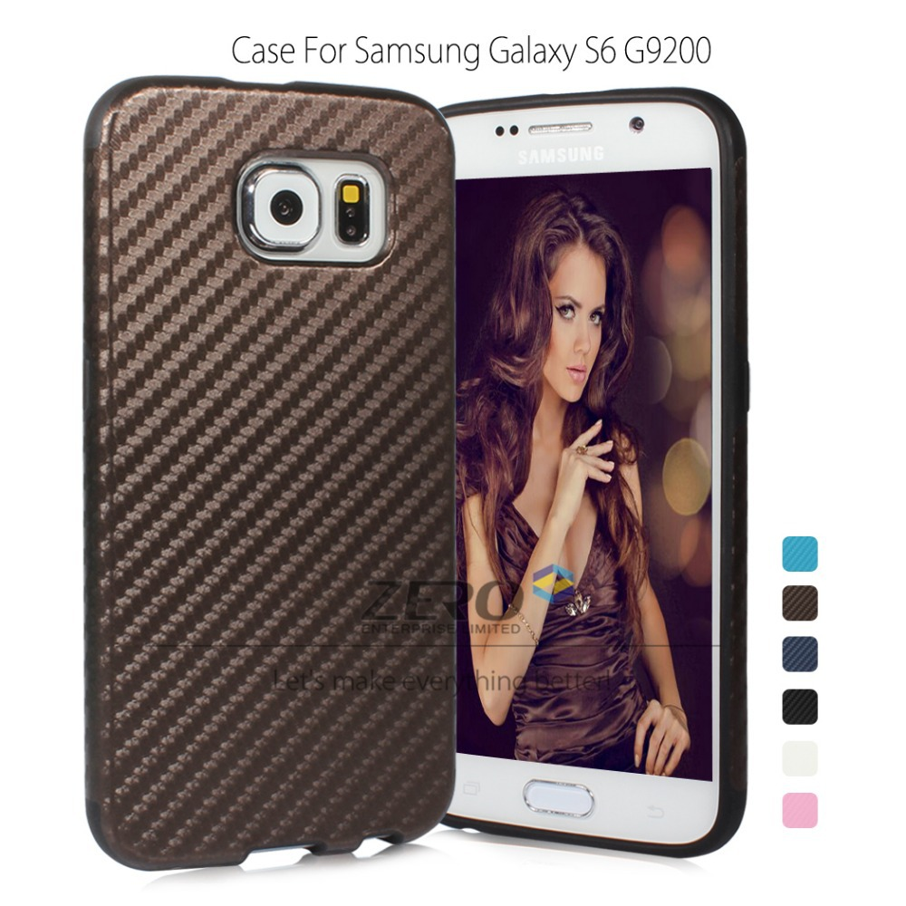New! Slim Soft TPU (Silicone) Case Samsung Galaxy S6 SM-G920 Carbon Fiber Back Cover Protective Shell Capa Order Tracking - ZERO ENTERPRISE LTD store