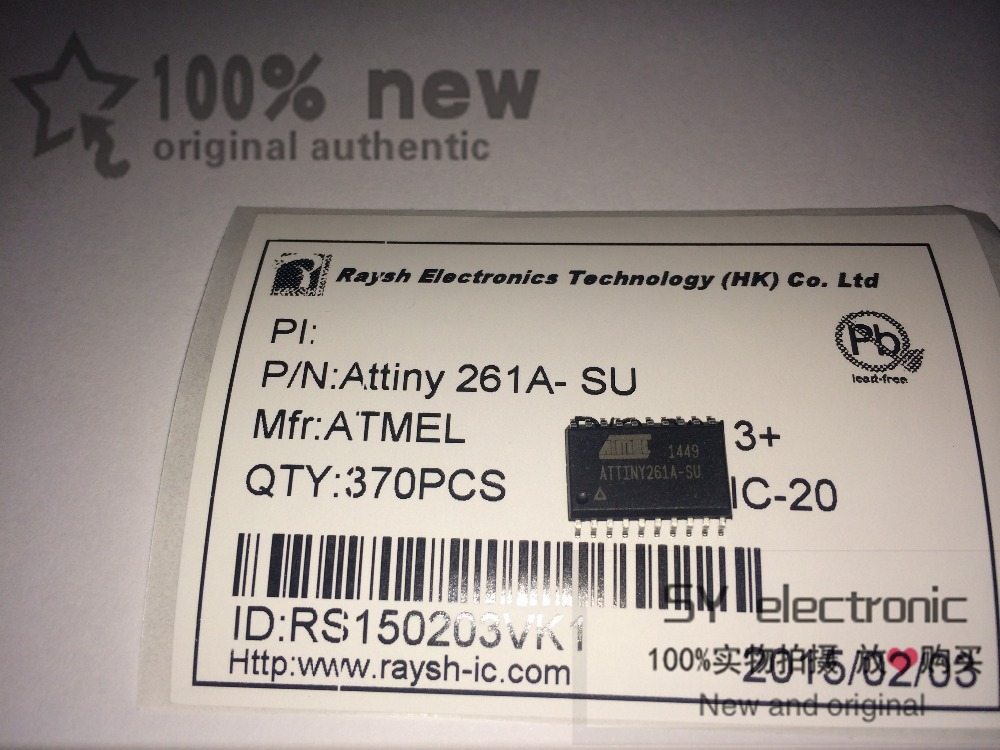 Free shipping 1PCS ATTINY261A-SU ATTINY261A SOP 8-bit Microcontroller with 2/4/8K Bytes In-System Programmable Flash(China (Mainland))