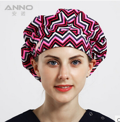 2016 New women Lab Hospital Surgical Cap Medical Scrub Operation Caps for Women Men Doctors Nurse High End 100% Cotton Anno EE5(China (Mainland))