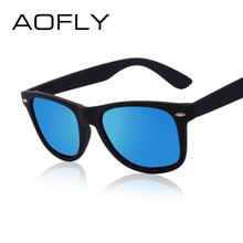 Revestimento de Moda Óculos De Sol Dos Homens Óculos Polarizados Homens Condução óculos Espelhos AOFLY Pontos Preto Quadro Óculos Masculinos Óculos de Sol UV400