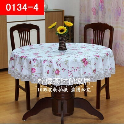 Thick plastic tablecloth variety roundtable large round circular table cloth tablecloth PVC waterproof oil disposable(China (Mainland))