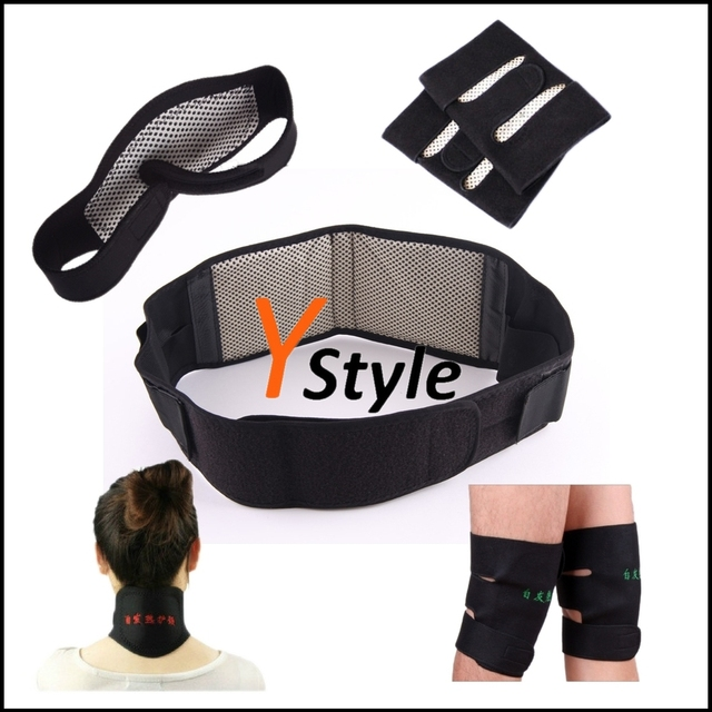 Free Shipping Tourmaline Belts Heating Belt Support for Neck Waist Kness (Y-MB-W01-01) with Magnetic Therapy Function 3 IN 1