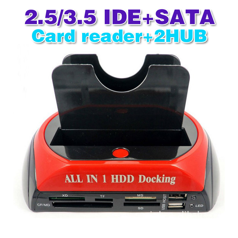"""All In 1 2.5"""" 3.5""""IDE SATA HDD Hard Drive Disk Clone Holder Dock Docking Station(China (Mainland))"""