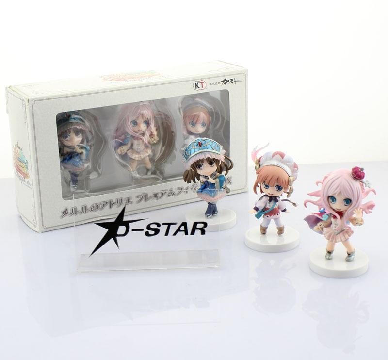 Free Shipping Original 3pcs Atelier Meruru Boxed Set PVC Action Figure Collection Model Toy (3pcs per set)<br><br>Aliexpress