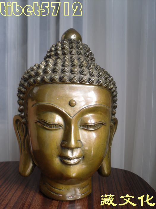 Indian Buddha Statue Head Buddha Statue Head 22 cm