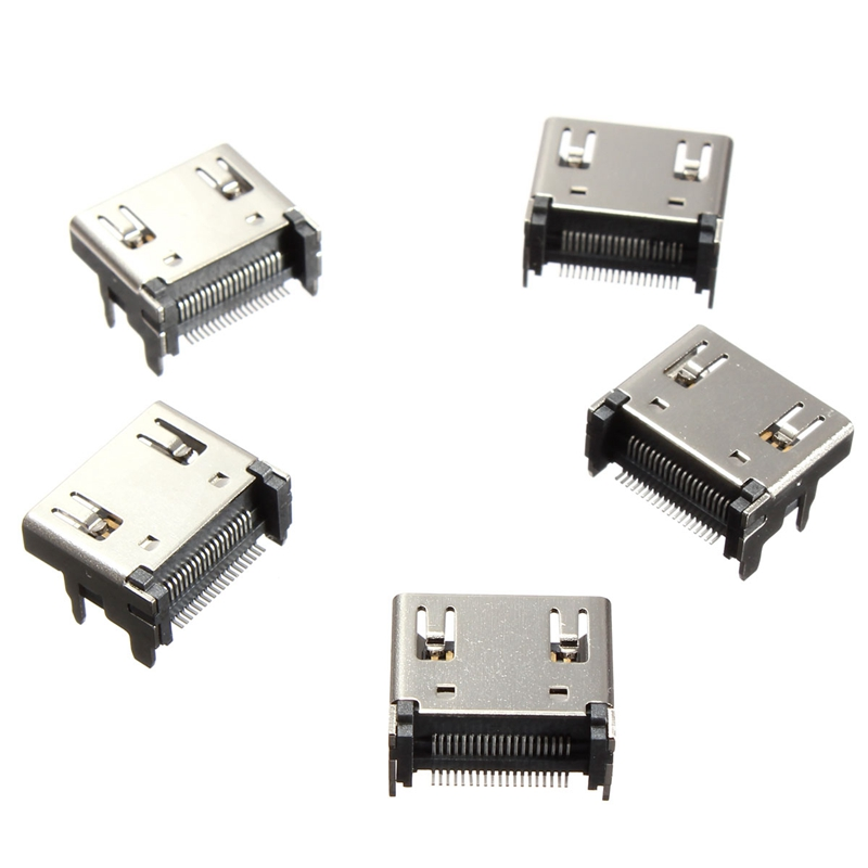Best Promotion Hot Sale Durable 5x 19pin HDMI Female Jack SMT Surface Mount Video Connector Type A Socket 4 Legs(China (Mainland))