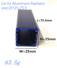 10 шт. алюминиевый корпус для электроники блок управления 25 * 25 * 75.5 мм diy корпус электронной аппаратуры распределительной коробки электроники на выходе коробка