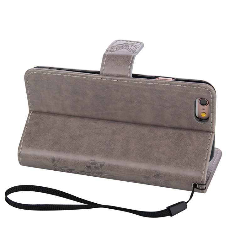 New Luxury PU Leather Flip Case Cover For Apple iPhone 5/5G/5S/5SE 4.0 inch With Card Slot Stand Function Mobile Phone Bag