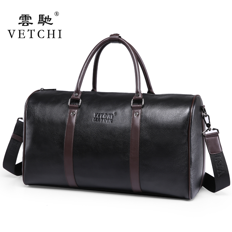 Luxury First Layer Cowskin men's travel bags Vintage Brand Genuine Leather handbags Big men Business Luggage bag 2015 New