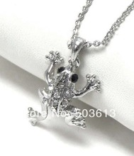 Buy Wholesale Fashion 2.4CM Frog Animal Charm Necklace Costume Dull Silver/Gold color Pendant Necklace xy014 for $1.32 in AliExpress store