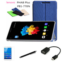 """case Lenovo PHAB Plus 6.8 """"call tablet protection shell leather holster PB1-770N"""