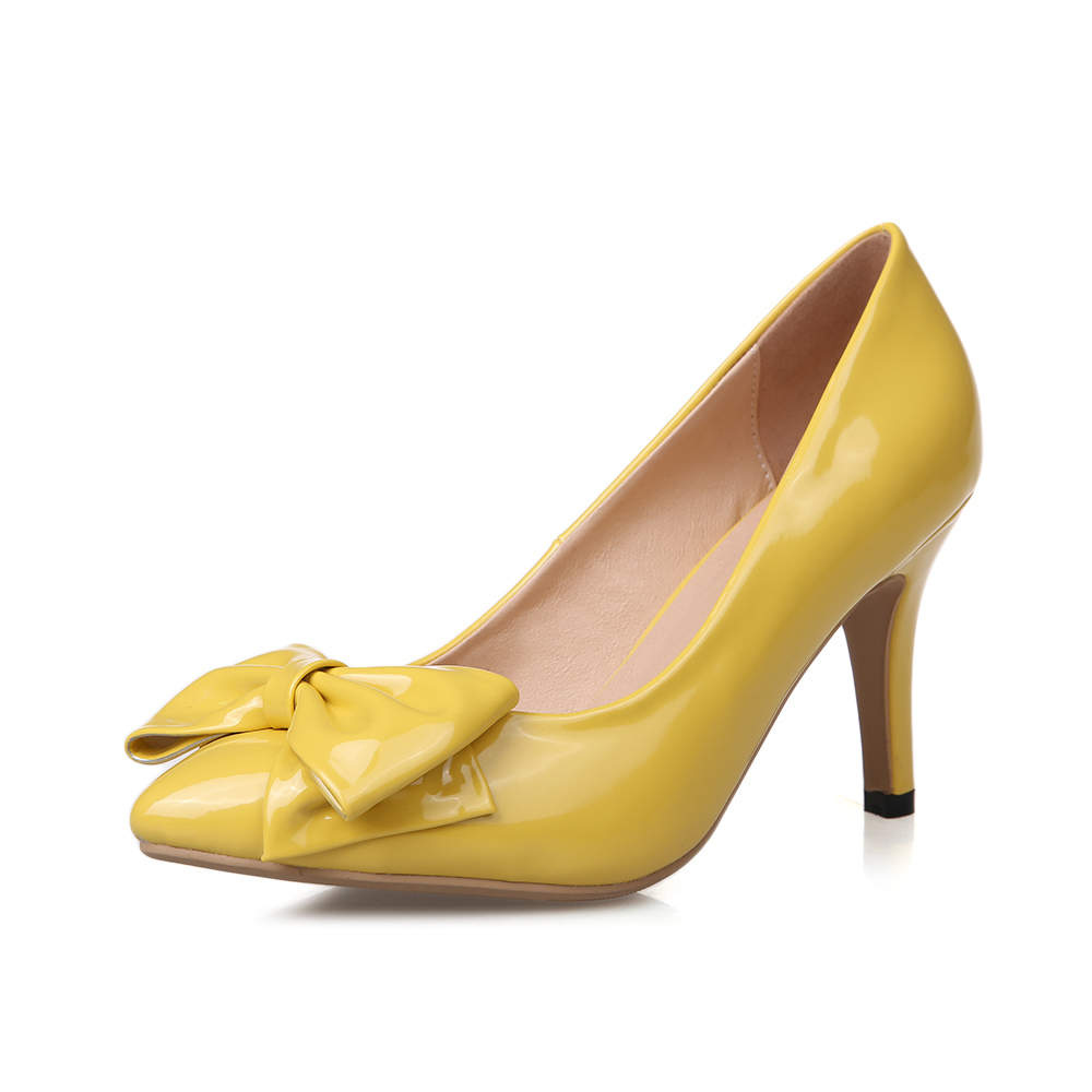 Yellow 3 Inch Heels - Is Heel