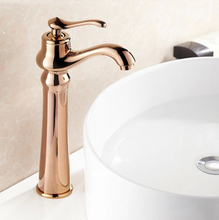 Buy Free Fashion Rose Gold Finish Brass Faucet Bathroom Basin Sink Mixer Tap Faucet water tap bathroom bath mixer HJ-6602M for $53.20 in AliExpress store