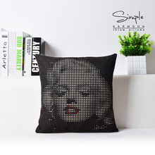 Wave Point Shape 45cm*45cm Square Home Decorative Pillows Black Cushion Car Home Accessories Free Shipping(China (Mainland))