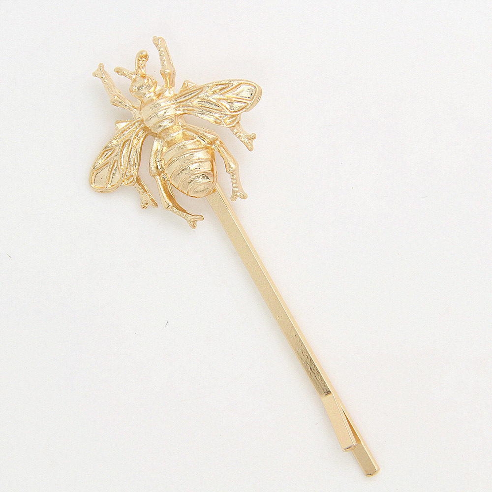 Cute Bee Hairpin Golden Alloy Hair Clips Fashion Barrettes for Women(China (Mainland))