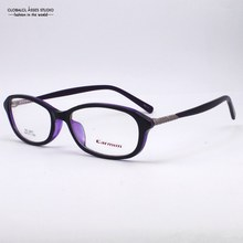 New Design Popular Black Outside Purple Inside Frame Purple Temple With Special Detial Women/Female Eye Glasses Frame NO.2451