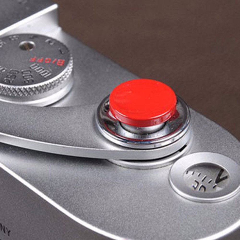 1Pcs Camera Metal Soft Shutter Release Button for Fujifilm X100 for Leica M4 M6 (Red)