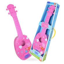 """Hot 37 cm/15 """"Genuíno Peppa Pig George Crianças Instrumentos Musicais Guitarra Ukulele Brinquedo Educação 30 cm de pelúcia presente de Aniversário De boneca(China)"""