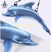 Dolphin Bag Colorful Seafish Messenger Bag Creative 3D Fish Sling Bag