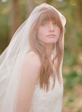 "Cathedral Length Veil With Metal Comb 108"" Long Train Soft Tulle Wedding Veil With 26"" Blusher Raw Edge Customized(China (Mainland))"