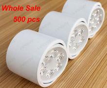 Wholesale 500X 7W LED Ceiling Wall Light White Shell Surface Mount Lamp Bulb KIT Pure/Warm White(China (Mainland))