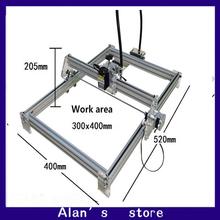 Laser 30 * 40cm large area 500 mw laser engraving machine DIY mini engraving machine 0.5 w laser module laser cutter machine