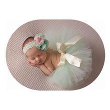 2016 Baby Blue Tutu skirt  Lace Floral headband summer girl ball gown Newborn photography pros girls tutu ballet skirt GCL0180(China (Mainland))