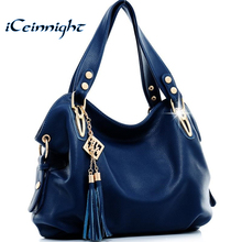 Buy iCeinnight New 2017 fashion women leather handbags messenger clutch shoulder bags vintage tassel bags Bolsas Femininas ladies for $21.16 in AliExpress store