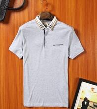 2017 Brand Men solid cotton Polo Shirt For Men Polos Cotton Short Sleeve Shirt Fashion Shirt Plus Size High Quality big(China (Mainland))