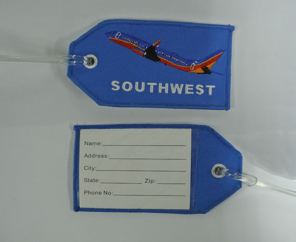 Embroidered Luggage Tag SOUTHWEST Airplane(China (Mainland))