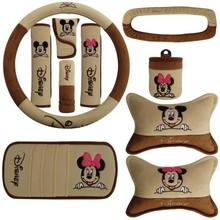 10 pcs / set head pillow car decorations auto interior ornaments Mickey Mouse pattern car headrest  handbrake interior products