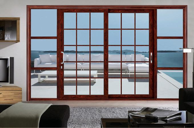 Aluminum multi leaf sliding door aluminum exterior door in for Exterior multi track sliding doors