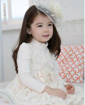 Free Shipping,2013 New Arrival , Princess Dress For Lovely Girl ,Lace, Fashion dress, Girls Outerwear For Fall ,TQL075