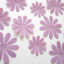 Direct manufacturers 3Dflower solar simulation flower decorative tracery wall paste H-008 new light purple(China (Mainland))