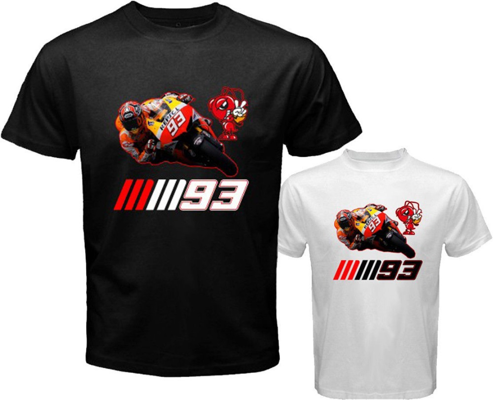 MOTO GP SHIRT MARC MARQUEZ MM 93 Logo Rider T-Shirt Men's Motorcycle Racing Tee T Shirt Custom Logo Sports Summer Size S-3XL(China (Mainland))