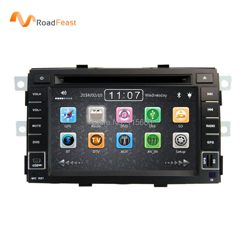 2 Din 7inch Indash Fitment car DVD Autoradio Stereo Headunit Automotivo Navigation for KIA Sorento 2010-2012 With Free map card(China (Mainland))