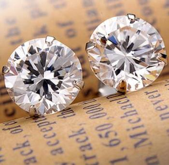 Fashion Noble Jewelry Crystal Rhinestone Silver Plated Stud Earrings Piercing Ear Studs For Weddings Party