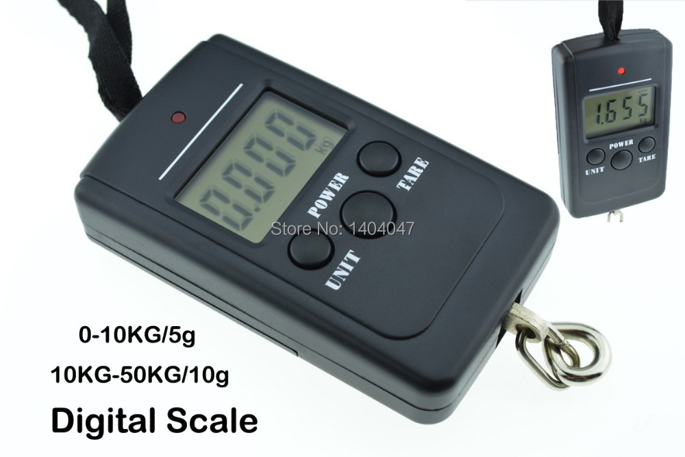 1pc 10-50kg/10g Luggage Hanging Digital Pocket Scale Kitchen Scale with Low Power Alarm Tare function and auto power off scale(China (Mainland))