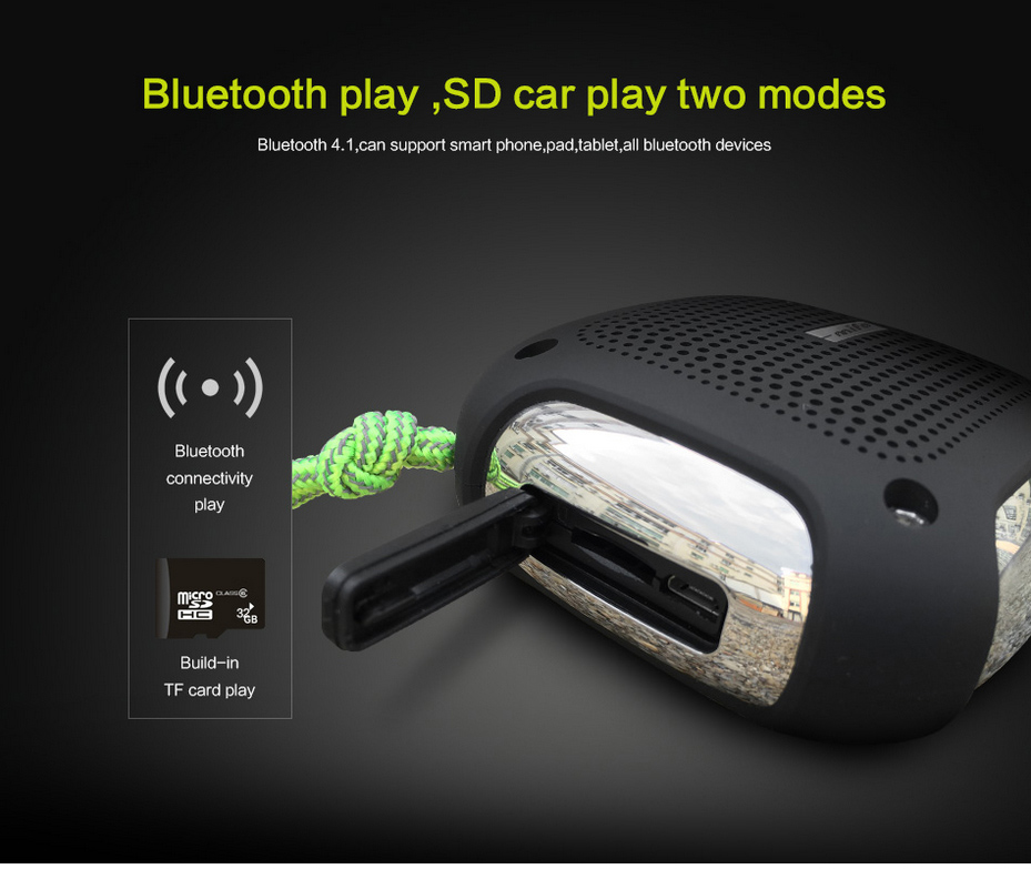 Mifo H3 Portable Bluetooth Speaker APP Contral Waterproof Outdoor Speaker MP3 Player Bluetooth Altavoz Support TF/SD Card