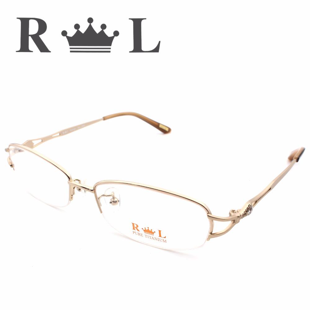 2016 New Fashion Sexy Optical Eyeglasses Frames Women Brand Designer High-Grade Mirrored Tag Glasses Frame Feminino RL5007-01(China (Mainland))