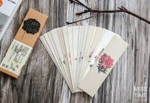 30Pcs/Pack Season Color Flower Plants Swatch Bookmark Paper Cartoon Film Bookmark Writing Card Gift Stationery(China (Mainland))